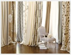 How to Hang Drapes - good tips from Ballard Designs with a few things you might forget