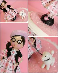 Poodle in Paris Clothespin Doll by Bunches and Bits
