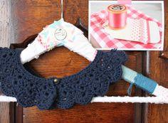 Handmade navy blue crochet collar. €21.00, via Etsy.