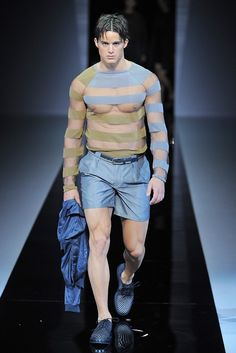 Emporio Armani Men's RTW Spring 2013. Ok ok.  This is not legit per se, but it was just too original not to pin.  Le yum!