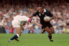Jonah Lomu in pictures: A celebration of New Zealand rugby legend after he dies aged 40 Jonah Lomu, Nz All Blacks, International Rugby, Martin Johnson, World Cup Match, New Zealand Rugby, Commonwealth Games, Rugby World Cup, Best Player