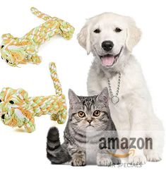 Artistic9(TM) Puppy Dog Cat Braided Animal Chew Toy Pet Clean Teeth Training Tool Funny Rope Toys (Tiger)
