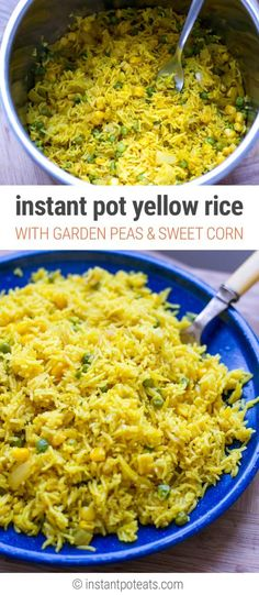 Homemade Yellow Rice Pot With Peas & Corn - Instant Pot Recipe, Gluten-Free