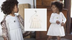 Robe blanche bébé
