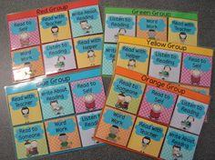 Little Miss Glamour Goes To Kindergarten: how to organize guided reading? Daily 5 Organization, Guided Reading Organization, Teacher Organisation, Education And Literacy, Kindergarten Literacy, Reading Stations, Reading Groups, Reading Skills, Daily 5 Rotation