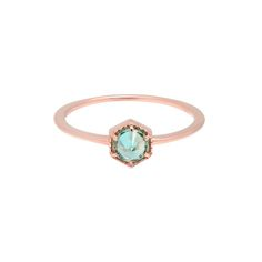 Full Bloom Ring- 14K Rose Gold- Blue Topaz by Luv Aj | Spring - Free Shipping. On Everything