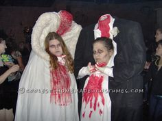 Thrift Store Headless Bride and Groom Couple Costume… Enter Coolest Halloween Costume Contest at http://ideas.coolest-homemade-costumes.com/submit/