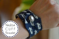 Using my beloved grandfather's old neckties, I turn them into chic cuff bracelets that I can wear everday!