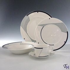 contemporary dinnerware   Angles 20 Piece Set - Service for 4 by Mikasa