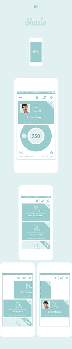 Shario is an online-to-offline mobile application, which is designed to help small retailers gain and retain customers. The design is completely flat, with strong focus on animations, transitions and other little details.
