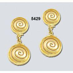 Σκουλαρίκια Καρφάκι 2 Σπείρες Χρυσά Κ14 Kallin - ΑρχαιοΕλληνικά - Σκουλαρίκια - Καρφίτσες - Παραμάνες - Κοσμήματα Jewels, Drop Earrings, Jewerly, Drop Earring, Gemstones, Fine Jewelry, Gem, Jewelery, Jewelry