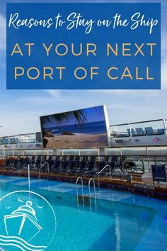 Updated for Sometimes it pays to stay onboard the ship. See why with our 7 Reasons to Stay on the Ship at Your Next port of call. Packing List For Cruise, Cruise Tips, Cruise Travel, Cruise Vacation, Vacations, Msc Cruises, Cheap Cruises, Cruise Excursions, Cruise Destinations