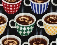 Steaming Coffee Fabric