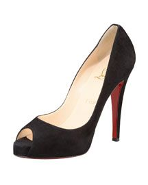 Christian Louboutin Peep-Toe Platform Pump; Classic shoe that can go with anything