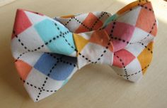 children's teal bow tie boys pink bow tie baptism outfit ring bearer kids orange bow tie wedding argyle groomsman bow tie for boys groom by KoppSHOPP on Etsy