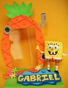 Portaretratos Bob Esponja / Goma EVA / Craft Foam , 3D ,  A Mano / Handmade , Personalizable , Diferente , Unico  / Unique . Visit www.gomaindociles.com