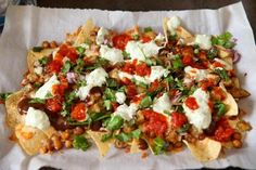 Recipe for chaat-style Indian nachos