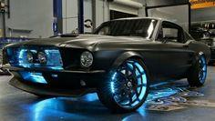 Matte Black 69 Mustang