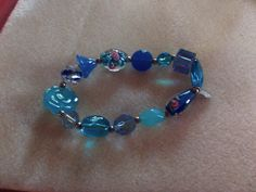 Glass beads on stretch wire by banning on Etsy