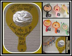 Spegel, spegel på väggen där, titta vem som i klassen är... Back to School Kindergarten Bulletin Board