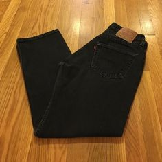 *REDUCED* Levi's black jeans Classic 501 fit from Levi's. Worn lovingly, but still in great shape. Only a small amount of fraying at hem and crotch. Levi's Jeans Straight Leg