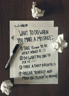 take a deep breath...do the footwork to make repair and forgive yourself~ rePinned by CamerinRoss.com