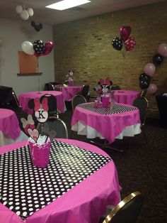 Minnie Mouse Party Decorations Minnie Mouse Theme Party with regard to Minnie Birthday Party Ideas - Party Supplies Ideas Minnie Mouse Theme Party, Minnie Mouse Party Decorations, Minnie Mouse First Birthday, Theme Mickey, Minnie Mouse Baby Shower, Mickey Party, Birthday Party Decorations, Minnie Baby, Disney Theme