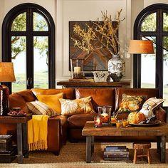 potterybarn: orange, a fall favorite hue