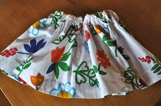 15 Minute Skirt tutorial=BEST USE OF A VALANCE EVER