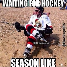 Are you getting tired of the wait? #waitingforhockey. #beachhockey #hurryup #hockey605 #hockey