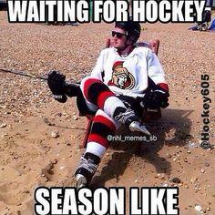 Are you getting tired of the wait? #waitingforhockey. #beachhockey #hurryup #hockey605 #hockey