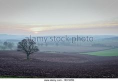 Dec, Setting sun over rural Nottinghamshire on the eve of the Winter solstice. Dec 2016, Winter Solstice, Eve, Stock Photos, Sunset, Amazing, Beach, Water, Outdoor