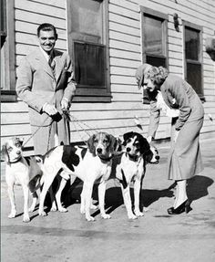 Clark Gable with dogs?  At least two of which have 'baroo' faces?  Yes, this is squee.