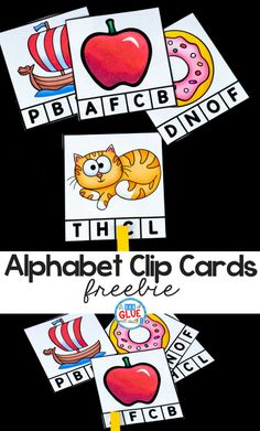 These alphabet clip cards are a great way to reinforce letter skills or introduce letters, depending on your student's needs. #alphabet #teachers #printable #teacherspayteachers #teachersfollowteachers