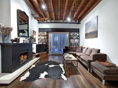 that rug      Beautiful warehouse conversion in Port Melbourne for sale      yes, please
