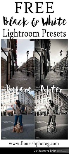 Free Lightroom Presets for making Black and White images, and hundreds MORE Free Photography Resources at Flourish!