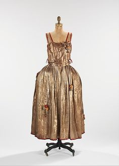 1922, France - Robe de Style by Jeanne Lanvin - Metal, silk