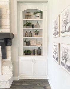 Living room shelves decorating ideas. Farmhouse living room shelves decorating…