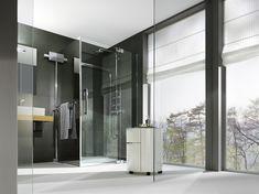 Minimalistische PALME® Dusche für offene Räume. Divider, Furniture, Home Decor, Showers, Minimalist, Bath Room, Bathing, Homemade Home Decor, Home Furnishings