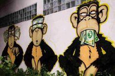 die drei Affen in der Überflussgesellschaft