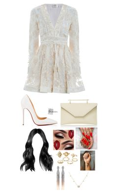 """""""Untitled #1628"""" by kellylaeticia ❤ liked on Polyvore featuring Zimmermann, Christian Louboutin, LUISA BECCARIA, Charlotte Russe, Oscar de la Renta and Gucci"""