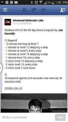 60 day Shred - workout 14