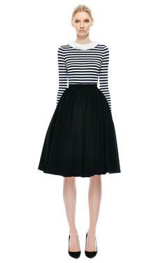 Long Sleeve Stripe Top by Natasha Zinko for Preorder on Moda Operandi