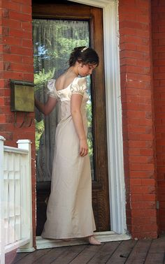Regency gowns. This is the best pattern I've ever found for Jane Austen style dress-up, and it's so easy to use I can make a dress in less than I day!