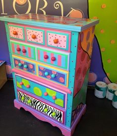 $320. Has a busted corner on one drawer so it does show a gap. Discounted piece. Vinyl decal on top. Funky Furniture Factory - Furniture