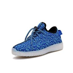 Children USB Rechargeable Led Sneakers Lightweight Kids Led Shoes Fashion Weave Sneaker for Boys and Girls Casual Kid Shoes