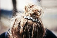 This is such a beautiful way to dress up a simple bun.
