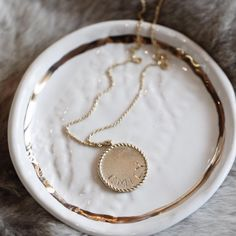 Introducing the Imperial Disc Pendant Jewelry Box, Fine Jewelry, Wishes For Baby, Personalized Jewelry, Jewelry Collection, Delicate, Valentines, Detail, Pendant