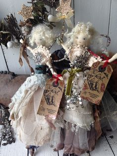 Hand made Christmas fairies by Potting Shed Designs www.notonthehighstreet.com/pottingsheddesigns
