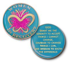 Doing It Sober - Women in Recovery Coin - Fuchsha Specialty Recovery Coin Medallion, $15.00 (http://www.doing-it-sober.mybigcommerce.com/women-in-recovery-coin-fuchsha-specialty-recovery-coin-medallion/)